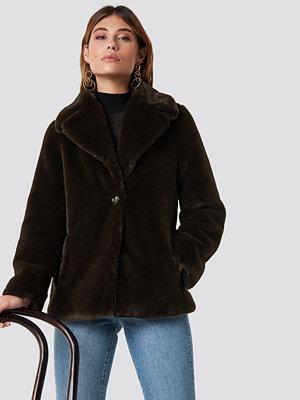 XLE the Label Jenna Faux Fur Coat brun