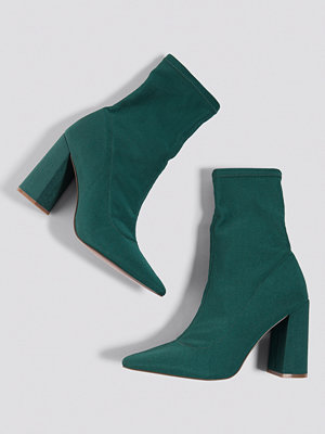NA-KD Shoes Slanted Heel Sock Boots grön