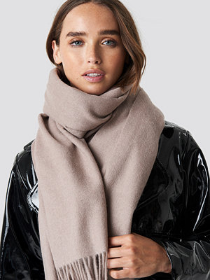 NA-KD Accessories Wool Blend Scarf beige