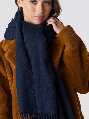 NA-KD Accessories Wool Blend Scarf blå