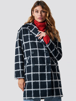 NA-KD Plaid Checked Jacket blå