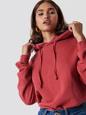 NA-KD Basic Basic Hoodie röd