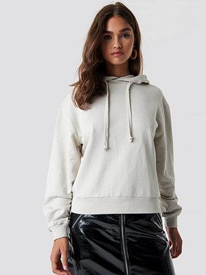 NA-KD Basic Basic Hoodie beige