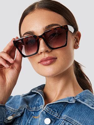 NA-KD Accessories Oversize Squared Sunglasses brun