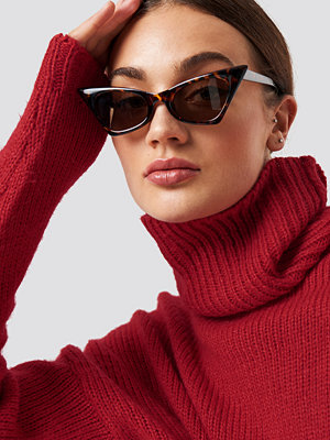 NA-KD Accessories Sharp Top Cat Eye Sunglasses brun