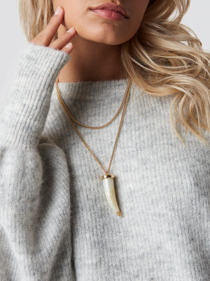 NA-KD Accessories smycke Big Horn Necklace guld