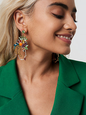 NA-KD Accessories Fruit Rhinestone Earrings - Smycken