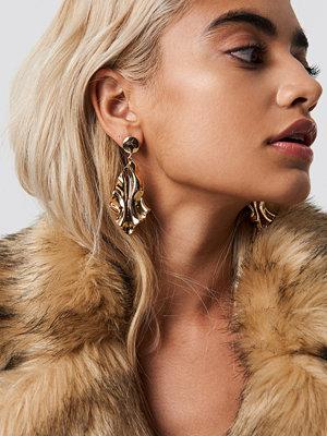 NA-KD Accessories Wavy Rhombus Earrings - Smycken