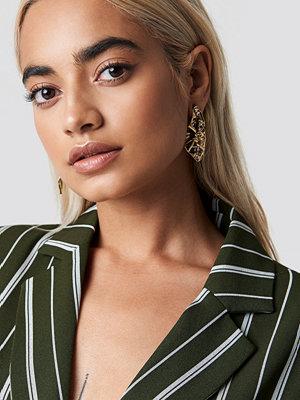 NA-KD Accessories Crumpled Triangular Earrings - Smycken