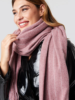 NA-KD Accessories Woven Pinstripe Scarf rosa
