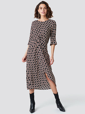 Rut & Circle Midi Pattern Dress multicolor