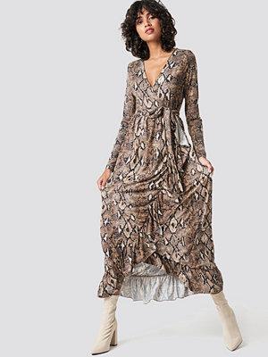 Colourful Rebel Gia Maxi Wrap Dress brun
