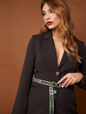 Bälten & skärp - NA-KD Accessories Slim NA-KD Woven Belt grön