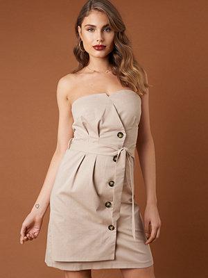 NA-KD Trend Tie Waist Paperbag Mini Dress - Korta klänningar