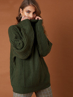 NA-KD Trend Big Chunky Knitted Sweater grön