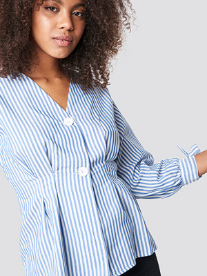 Trendyol Balloon Sleeve Striped Blouse - Skjortor