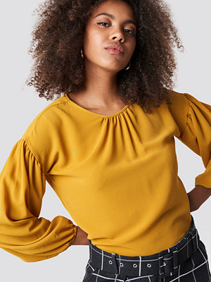 Trendyol Balloon Sleeve Round Neck Blouse - Blusar