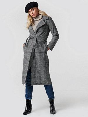 Trendyol Belted Overcoat grå