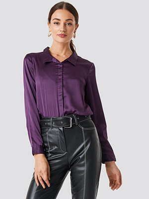 Rut & Circle Rebecka satin shirt lila