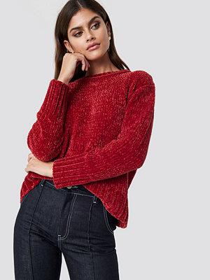NA-KD Chenille Knitted Sweater röd