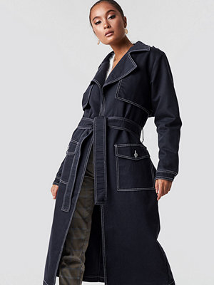 NA-KD Trend Oversized Denim Coat - Kappor