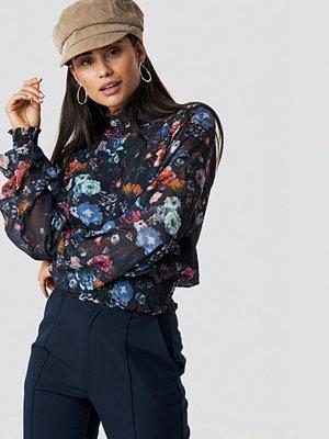 Top Secret Flower Long Sleeve Blouse - Blusar