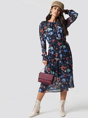Top Secret Long Flower Dress - Midiklänningar