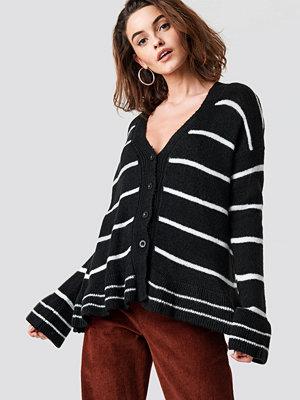 Trendyol Striped Knit Cardigan svart