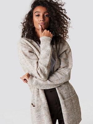 NA-KD Trend Wool Blend Cardigan beige