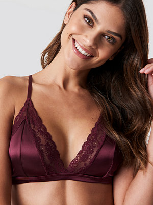 Rut & Circle Satin Lace Bra lila