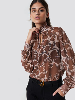 Trendyol Tile Patterned Blouse brun