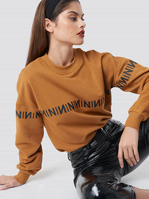 NA-KD Trend N Branded Sweatshirt orange