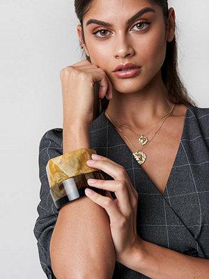 Mango smycke Manuela Bracelet svart brun beige