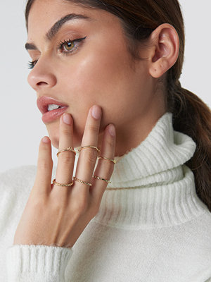 NA-KD Accessories Fine Stacking Rings - Smycken