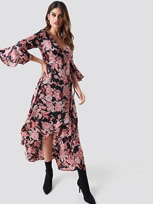Glamorous Wrap Maxi Print Dress - Kaftaner