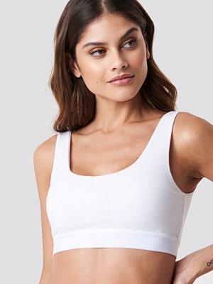 NA-KD Lingerie Elastic Cotton Bralette vit