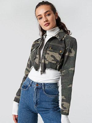 Glamorous Camo Denim Jacket - Jackor