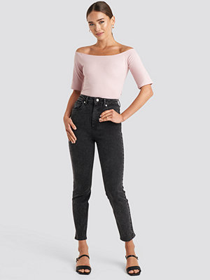 NA-KD Trend High Waist Skinny Fit Jeans svart