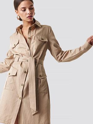 NA-KD Trend Pocket Detail Shirt Dress - Korta klänningar