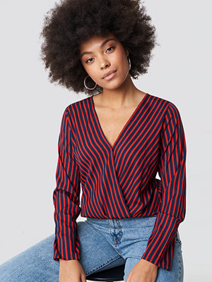 Rut & Circle Alex Stripe Wrap Blouse - Blusar