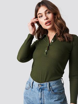 Skjortor - Trendyol Polo Collar Knitted Blouse