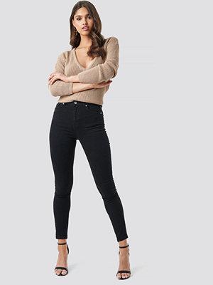 NA-KD Skinny High Waist Jeans svart