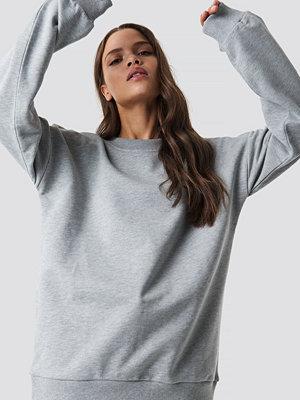 NA-KD Basic Unisex Sweatshirt grå