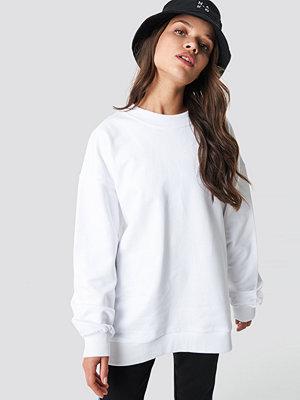 NA-KD Basic Unisex Sweatshirt vit