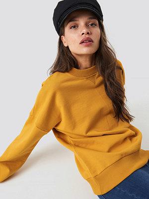 NA-KD Basic Basic Oversize Sweatshirt gul