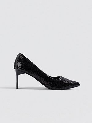 NA-KD Shoes Sequins Pumps svart