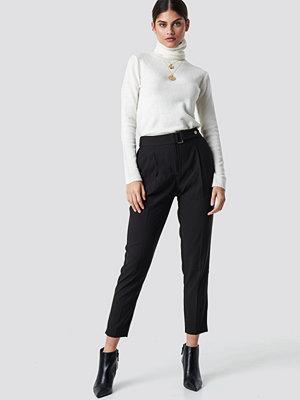 Top Secret svarta byxor High Waisted Trousers svart