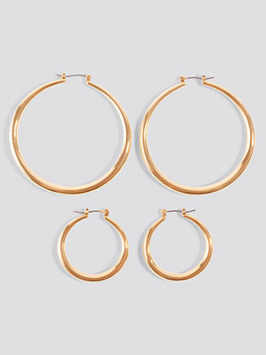NA-KD Accessories 2-pack Uneven Hoop Earrings - Smycken