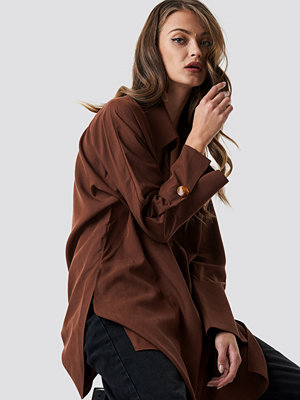 Mango Coll Shirt brun