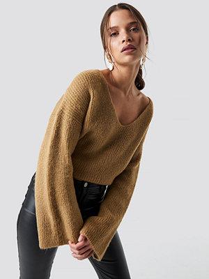 Iva Nikolina x NA-KD Loose Fit Knitted Sweater beige